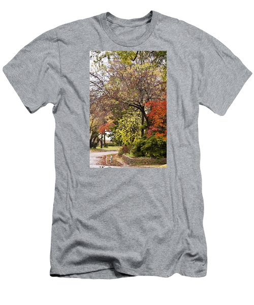 Men's T-Shirt (Slim Fit) featuring the photograph Around The Corner by Joan Bertucci
