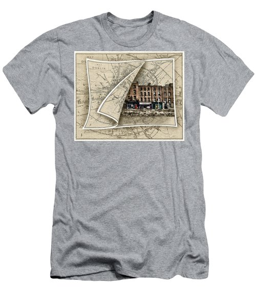 Arran Quay Dublin Map Men's T-Shirt (Athletic Fit)
