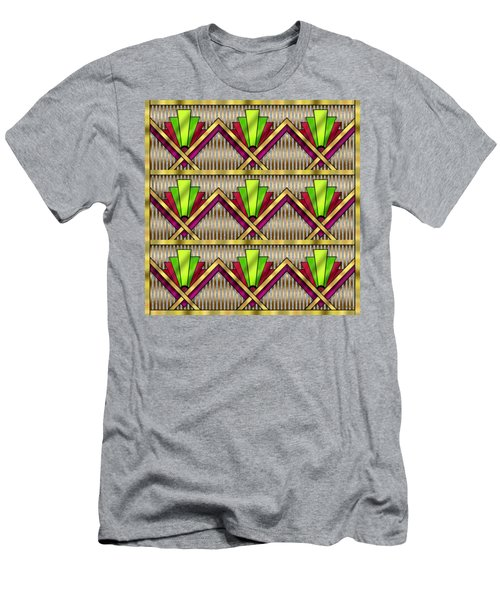 Men's T-Shirt (Slim Fit) featuring the digital art Art Deco Multiview 18  by Chuck Staley