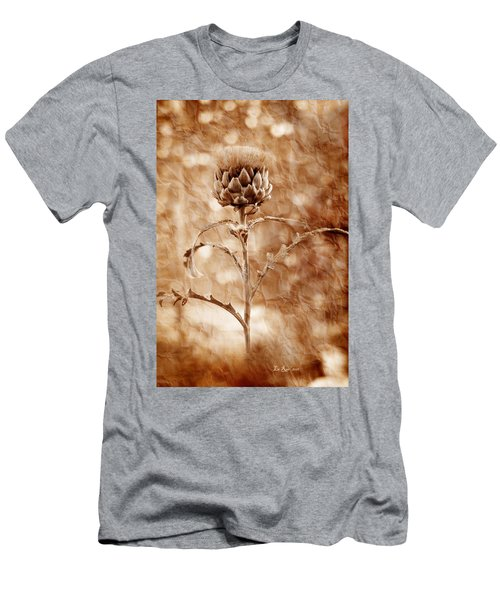 Artichoke Bloom Men's T-Shirt (Slim Fit) by La Rae  Roberts