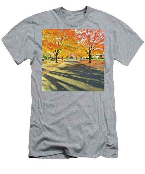 Men's T-Shirt (Athletic Fit) featuring the photograph Artistic Tulsa Street by Robert Knight