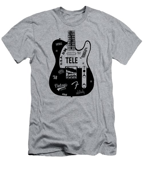 Fender Telecaster 58 Men's T-Shirt (Slim Fit) by Mark Rogan
