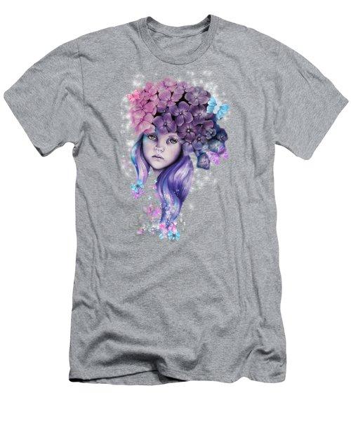 Hydrangea Men's T-Shirt (Slim Fit) by Sheena Pike