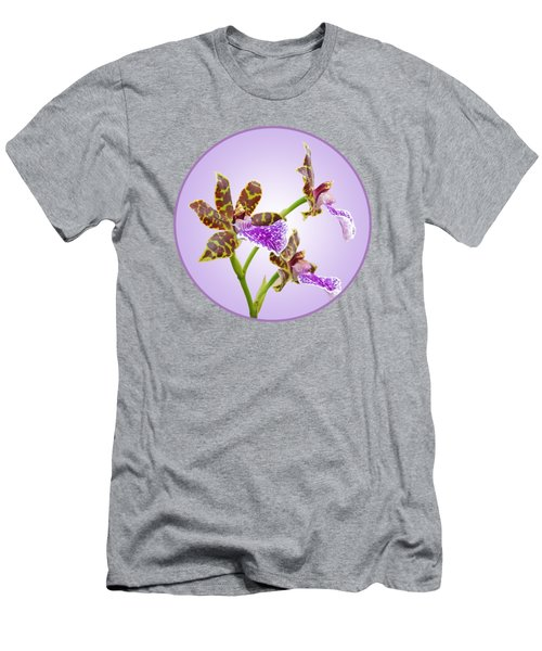 Bold And Beautiful - Zygopetalum Orchid Men's T-Shirt (Slim Fit) by Gill Billington