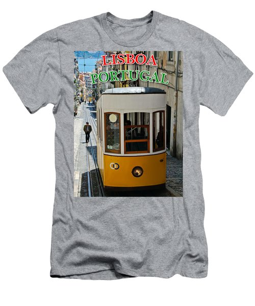 Lisbon - Portugal - Elevador Da Bica Men's T-Shirt (Athletic Fit)