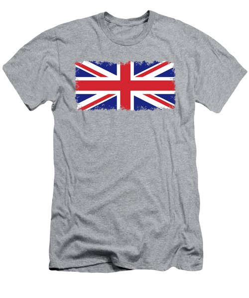 Union Jack Ensign Flag 1x2 Scale Men's T-Shirt (Slim Fit) by Bruce Stanfield