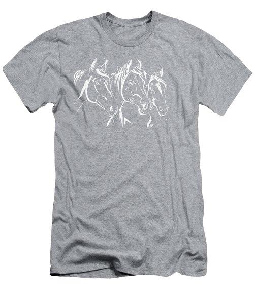 Horses Friends Men's T-Shirt (Athletic Fit)