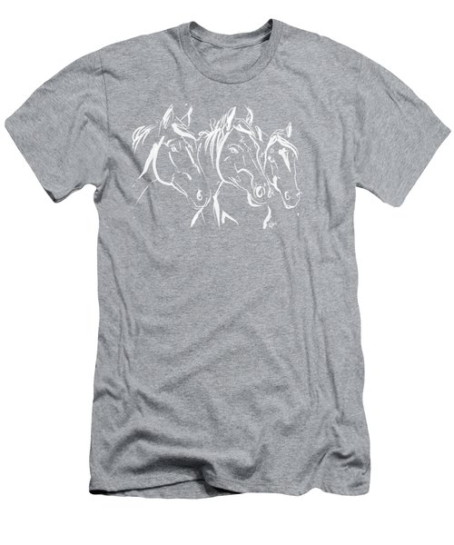 Horses Friends Men's T-Shirt (Athletic Fit)