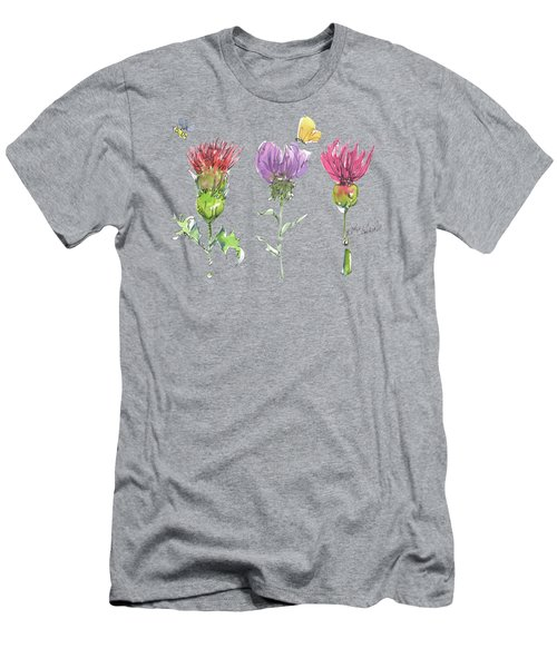 Scottish Thistle Tattoo With Bumble Bee Fl104 Men's T-Shirt (Athletic Fit)