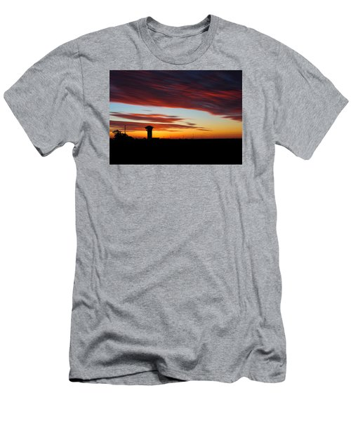 Sunrise Over Golden Spike Tower Men's T-Shirt (Athletic Fit)