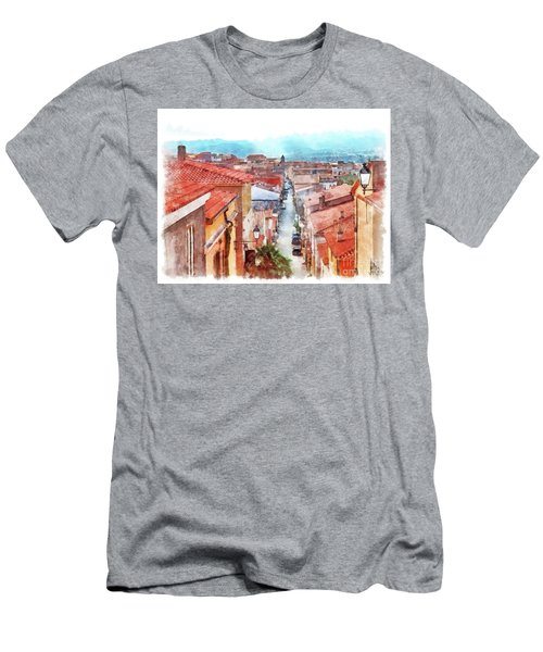 Arzachena View Of The Corso Garibaldi Men's T-Shirt (Athletic Fit)