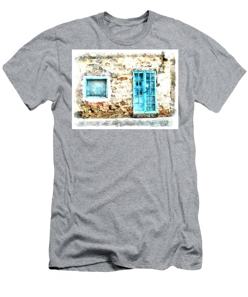 Arzachena Window And Blue Door Store Men's T-Shirt (Athletic Fit)