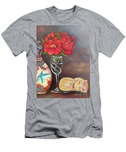Men's T-Shirt (Athletic Fit) featuring the painting As If In A Dream by Marlene Book