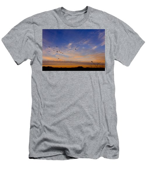 As Night Falls Men's T-Shirt (Slim Fit) by Barbara Manis