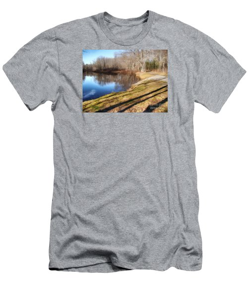 Men's T-Shirt (Slim Fit) featuring the photograph Aslant by Betsy Zimmerli