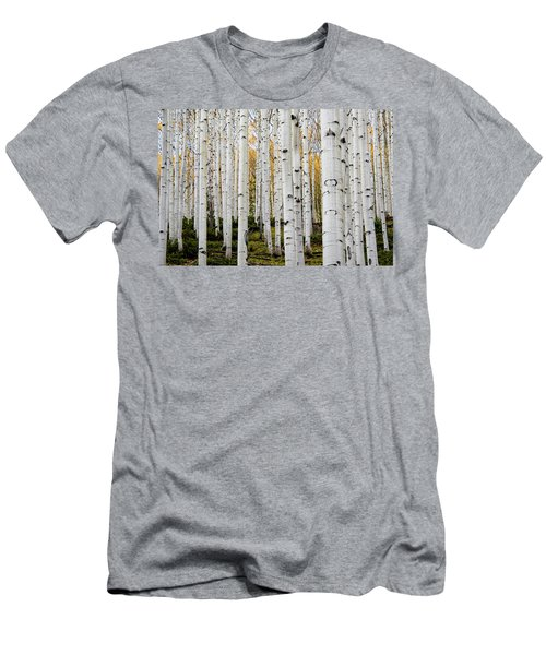Men's T-Shirt (Athletic Fit) featuring the photograph Aspens And Gold by Stephen Holst