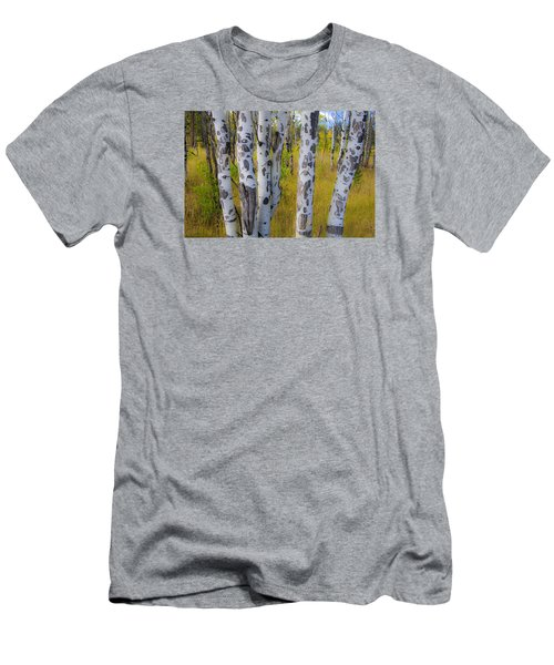 Men's T-Shirt (Slim Fit) featuring the photograph Aspens by Gary Lengyel