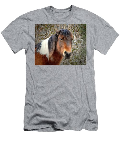 Assateague Island Pony Patricia Irene Men's T-Shirt (Athletic Fit)