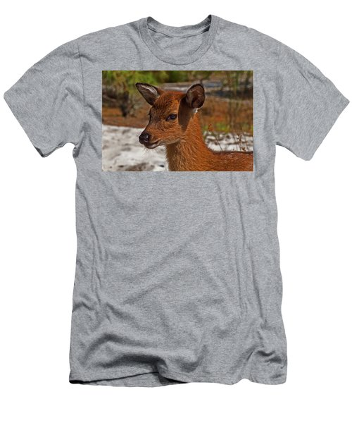 Assateague Island Sika Deer Fawn Men's T-Shirt (Athletic Fit)