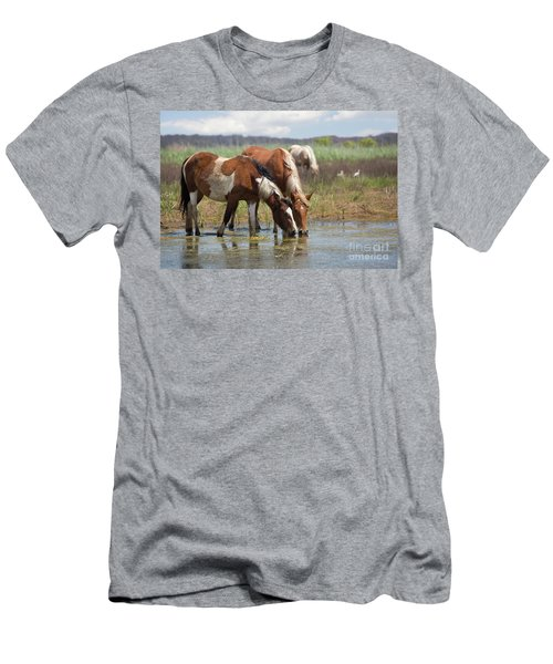 Assateague Ponies Tale Drink Men's T-Shirt (Athletic Fit)