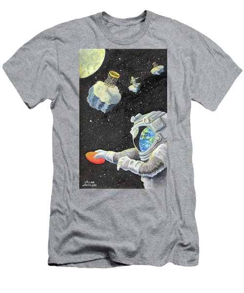 Astronaut Disc Golf Men's T-Shirt (Athletic Fit)