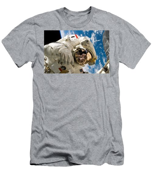 Astronaut During The Third Spacewalk Of Sts-121 Men's T-Shirt (Athletic Fit)