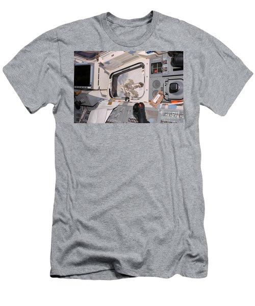 Astronaut Taking Spacewalk Men's T-Shirt (Athletic Fit)