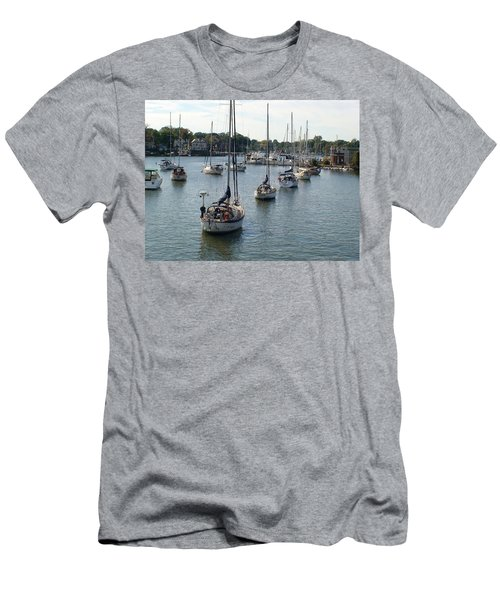 Men's T-Shirt (Slim Fit) featuring the photograph At Anchor by Charles Kraus