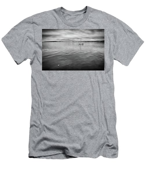 Men's T-Shirt (Athletic Fit) featuring the photograph At Anchor In The Harbor by Rick Berk