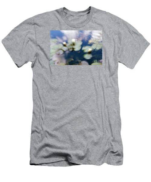 At Claude Monet's Water Garden 4 Men's T-Shirt (Slim Fit) by Dubi Roman