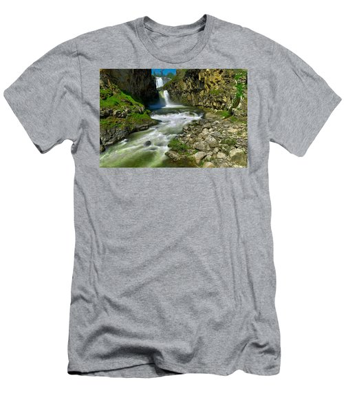 At The Bottom Of White River Falls Men's T-Shirt (Athletic Fit)