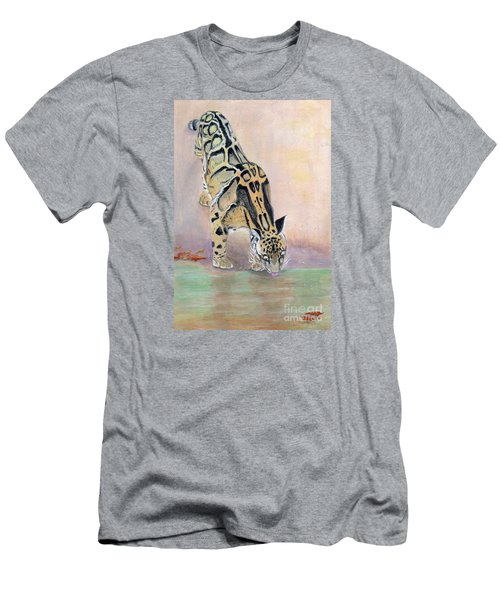 At The Waterhole - Painting Men's T-Shirt (Athletic Fit)