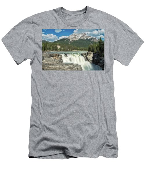 Athabasca Falls Men's T-Shirt (Athletic Fit)