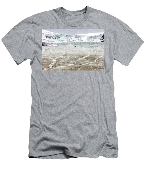 Athabasca Glacier With Guided Expedition Men's T-Shirt (Slim Fit) by Pierre Leclerc Photography