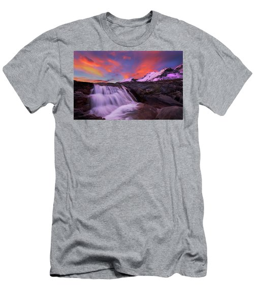 Athabasca On Fire Men's T-Shirt (Slim Fit) by Dan Jurak