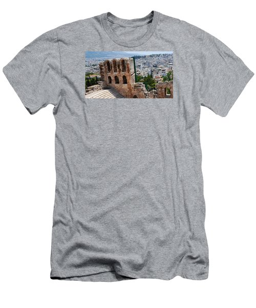 Athens From Acropolis II Men's T-Shirt (Slim Fit) by Robert Moss