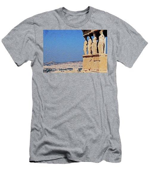 Men's T-Shirt (Athletic Fit) featuring the digital art Athens, Greece by PixBreak Art