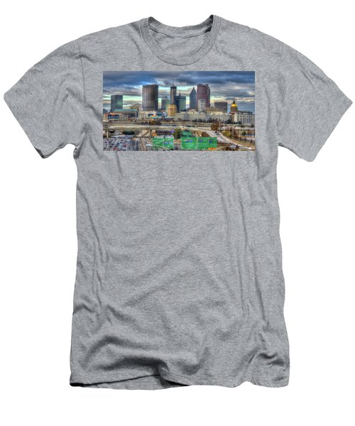 Men's T-Shirt (Athletic Fit) featuring the photograph Atlanta Moving On Skyline Cityscape Art by Reid Callaway