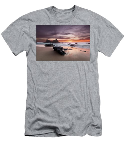 Atlantic Seashore Men's T-Shirt (Slim Fit) by Jorge Maia