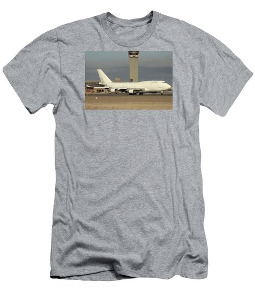 Atlas Air Boeing 747-45e-sf N473mc Phoenix Sky Harbor December 20 2015  Men's T-Shirt (Slim Fit) by Brian Lockett