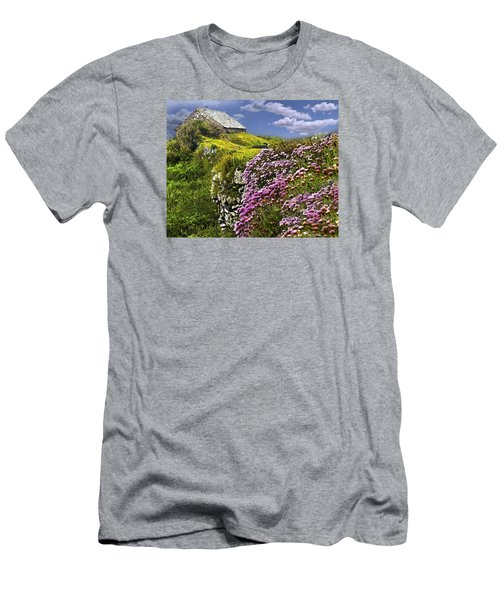 Atop A Crag Men's T-Shirt (Athletic Fit)