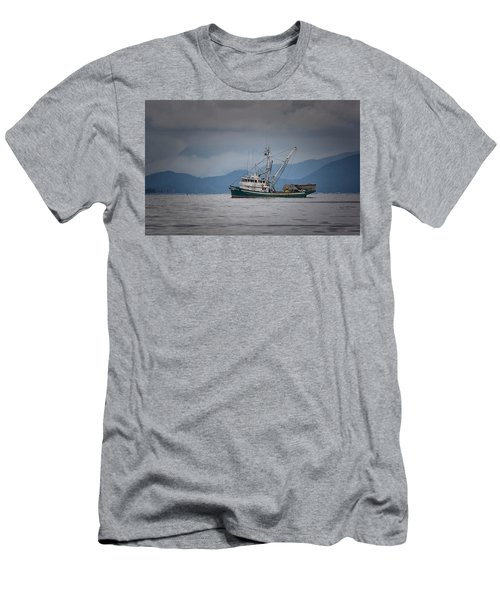 Attu Off Madrona Men's T-Shirt (Slim Fit) by Randy Hall