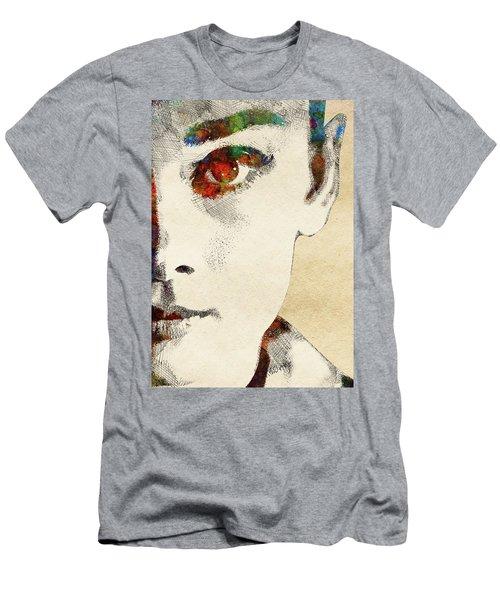 Audrey Half Face Portrait Men's T-Shirt (Slim Fit) by Mihaela Pater