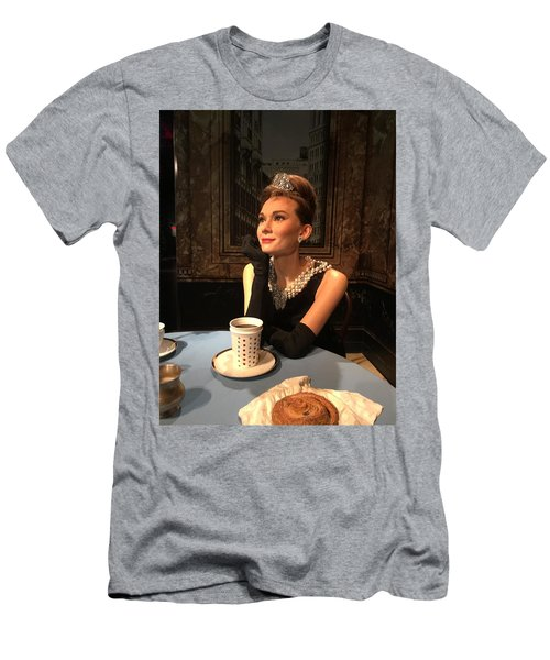Audrey Hepburn Men's T-Shirt (Slim Fit) by Kay Gilley