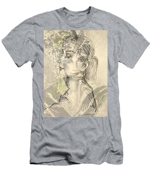 Audrey Two -- Portrait Of Audrey Hepburn Men's T-Shirt (Athletic Fit)