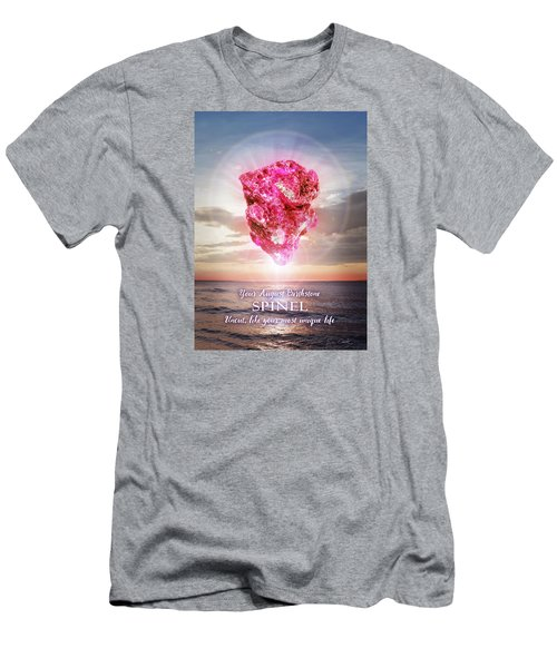 August Birthstone Spinel Men's T-Shirt (Athletic Fit)