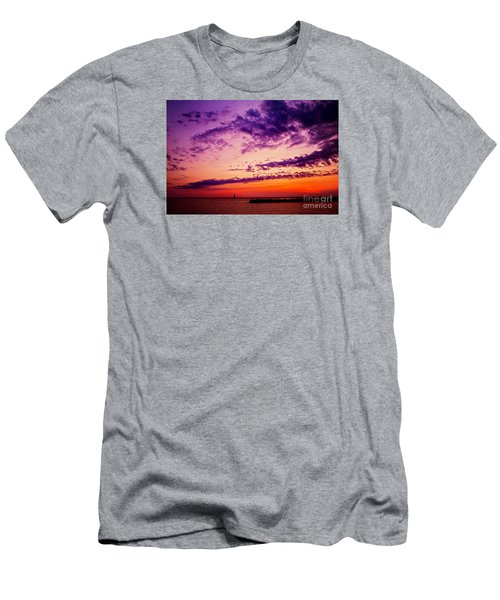 Men's T-Shirt (Slim Fit) featuring the photograph August Night by Randall  Cogle