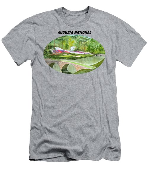 Augusta National Golf Course With Banner Men's T-Shirt (Slim Fit) by Bill Holkham