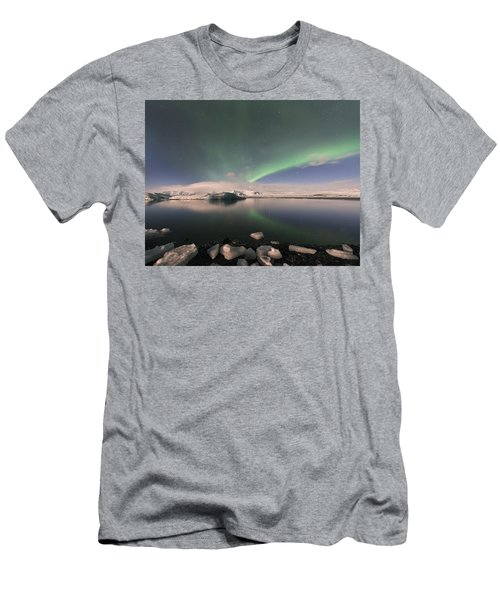 Men's T-Shirt (Slim Fit) featuring the photograph Aurora Borealis And Reflection by Wanda Krack