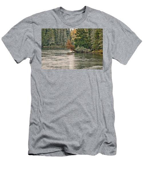 Ausable River 9899 Men's T-Shirt (Slim Fit) by Michael Peychich